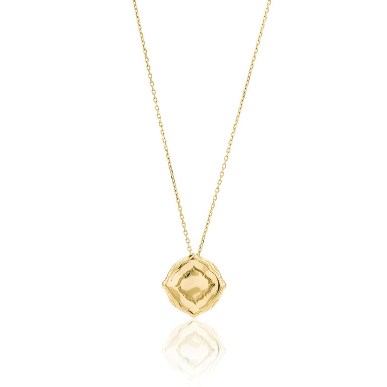 18 Karat Yellow Gold and White Diamonds Stackable Pendants For Sale 3