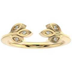 18 Karat Yellow Gold Aster Floral Diamond Ring '1/20 Carat'