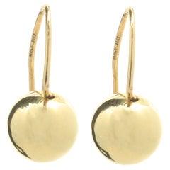 18 Karat Yellow Gold Ball Drop Earrings
