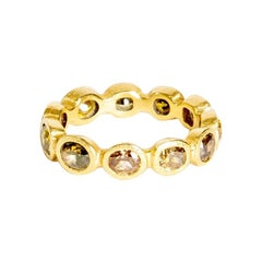 18K Yellow Gold Band Ring with Mixed Fancy Cut Diamonds '2.9 Carat'