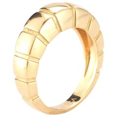 18 Karat Yellow Gold Banded Ring by Van Cleef & Arpels