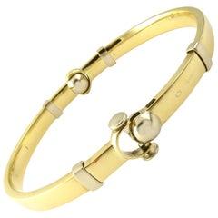 18 Karat Yellow Gold Bangle Bracelet