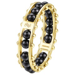 "18 Karat Yellow Gold, Black Onyx-The Impressionists ""Cobalt Black"" Unisex Ring"