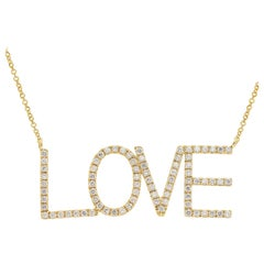 18 Karat Yellow Gold Bold LOVE Necklace