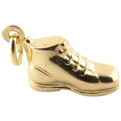 18 Karat Yellow Gold Boot Charm