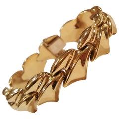 18 Karat Yellow Gold Bracelet, 28.2 Grams, Very Good