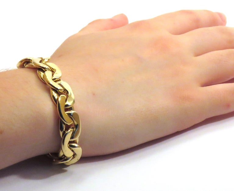 18 Karat Yellow Gold Groumette Bracelet Handcraft in Italy by Botta Gioielli In Excellent Condition For Sale In Milano, IT