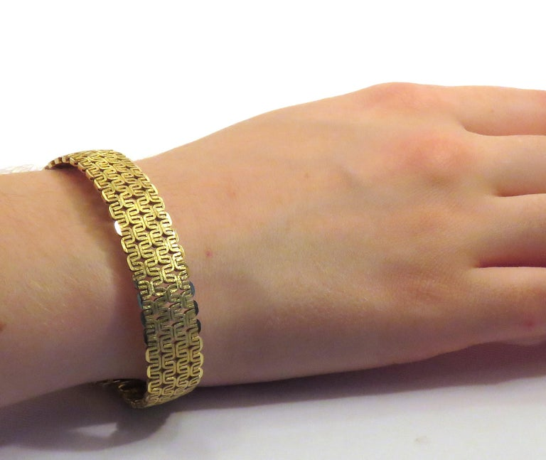 18 Karat Yellow Gold Bracelet Made in Italy In Excellent Condition For Sale In Milano, IT