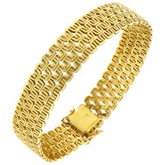 18 Karat Yellow Gold Bracelet Made in Italy