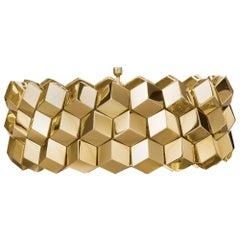 Paolo Costagli 18 Karat Yellow Gold Brillante Bracelet, Medium