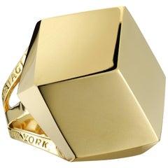 Paolo Costagli 18 Karat Yellow Gold Brillante Cocktail Ring