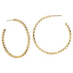 Paolo Costagli 18 Karat Yellow Gold Brillante Hoop Earrings, Grande