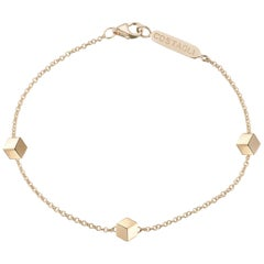 18 Karat Yellow Gold Brillante Natalie Station Bracelet