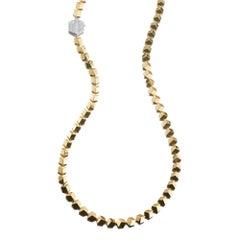 Paolo Costagli 18 Karat Yellow Gold Brillante Necklace with Diamond Clasp