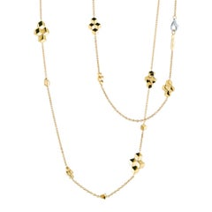 Paolo Costagli 18 Karat Yellow Gold Brillante Sautoir Diamond Clasp Necklace