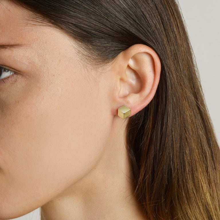 18kt yellow gold Brillante® stud earrings, petite.  Translated from a quintessential Venetian motif, the Brillante® jewelry collection combines strong jewelry design, cutting edge technology and fine engineering.  A bracelet from this iconic and