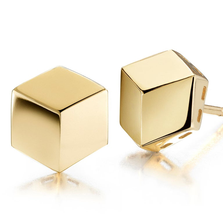 Paolo Costagli 18 Karat Yellow Gold Brillante Stud Earrings In New Condition For Sale In New York City, NY