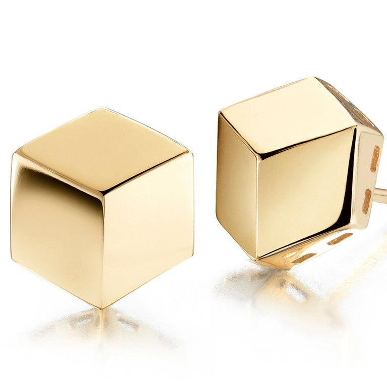 Paolo Costagli 18 Karat Yellow Gold Brillante Stud Earrings, Grande In New Condition For Sale In New York City, NY
