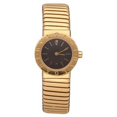 18 Karat Yellow Gold Bulgari Tubogas Watch