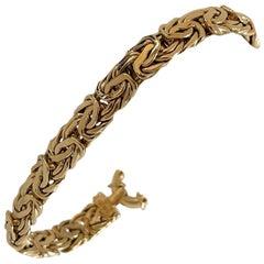 18 Karat Yellow Gold Byzantine Link Bracelet