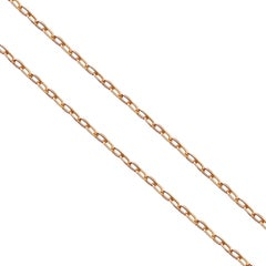 18 Karat Yellow Gold Cable Chain Necklace
