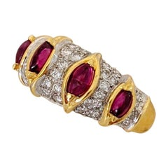 18 Karat Yellow Gold Carrera y Carrera 1.10 Carat Ruby and Diamond Ring