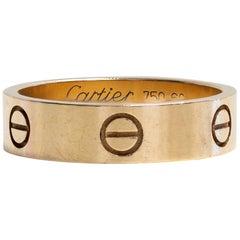 18 Karat Yellow Gold Cartier Love Ring