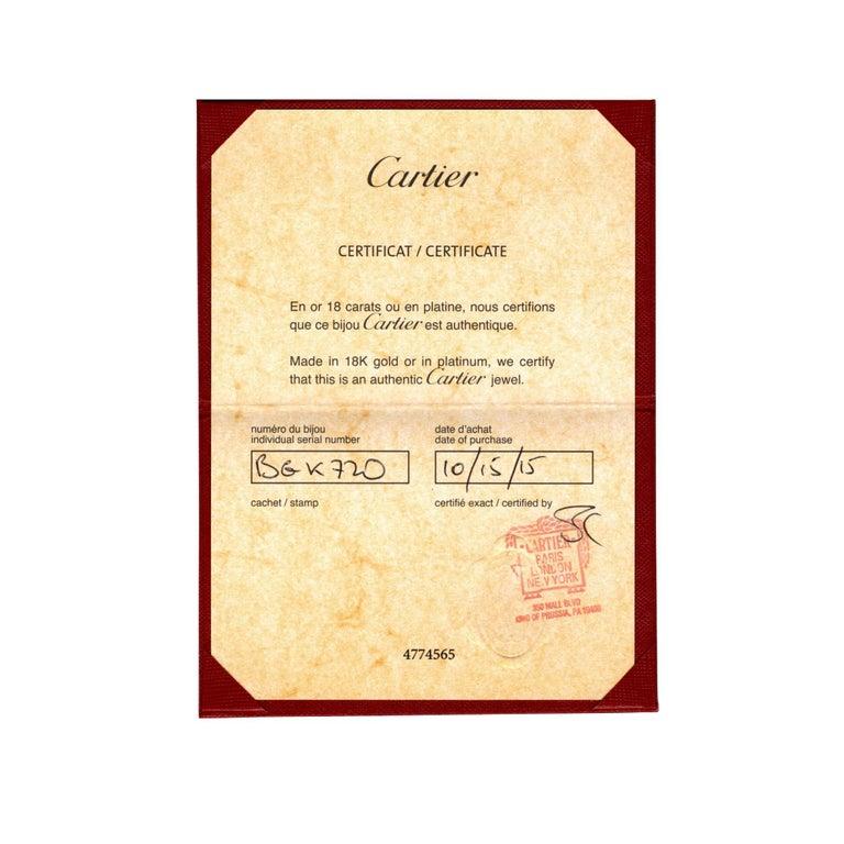 Women's or Men's 18 Karat Yellow Gold Cartier Santos-Dumont Chain Necklace with Box & Papers