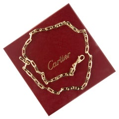 18 Karat Yellow Gold Cartier Santos-Dumont Chain Necklace with Box & Papers