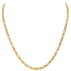 18 Karat Yellow Gold Chain Necklace