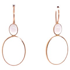 18 Karat Yellow Gold Chalcedony Necklace Earrings
