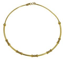 18 Karat Yellow Gold Choker