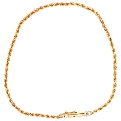 18 Karat Yellow Gold Circle Chain Bracelet
