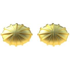 18 Karat Yellow Gold Compass Cufflinks