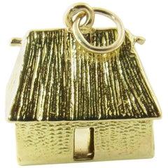 18 Karat Yellow Gold Cottage Charm
