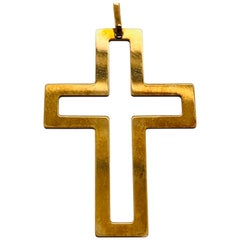 18 Karat Yellow Gold Cross / Religious Pendant