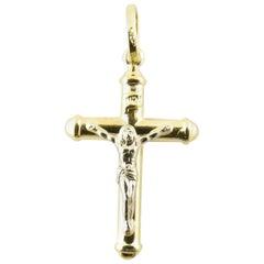 18 Karat Yellow Gold Crucifix Pendant
