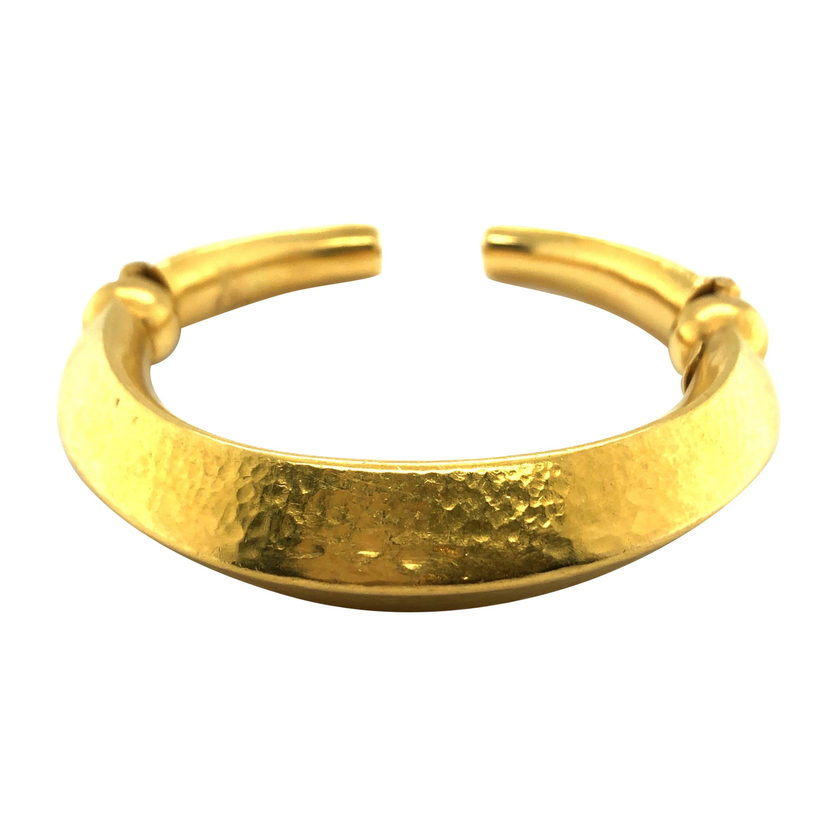 18 Karat Yellow Gold Cuff Bracelet by Lalaounis