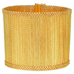 18 Karat Yellow Gold Cuff Bracelet