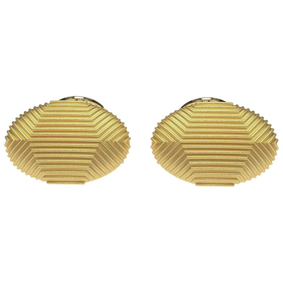 18 Karat Yellow Gold Cufflinks