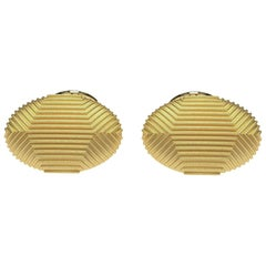 18 Karat Yellow Gold Cufflinks