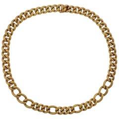 18 Karat Yellow Gold Curb Link Necklace