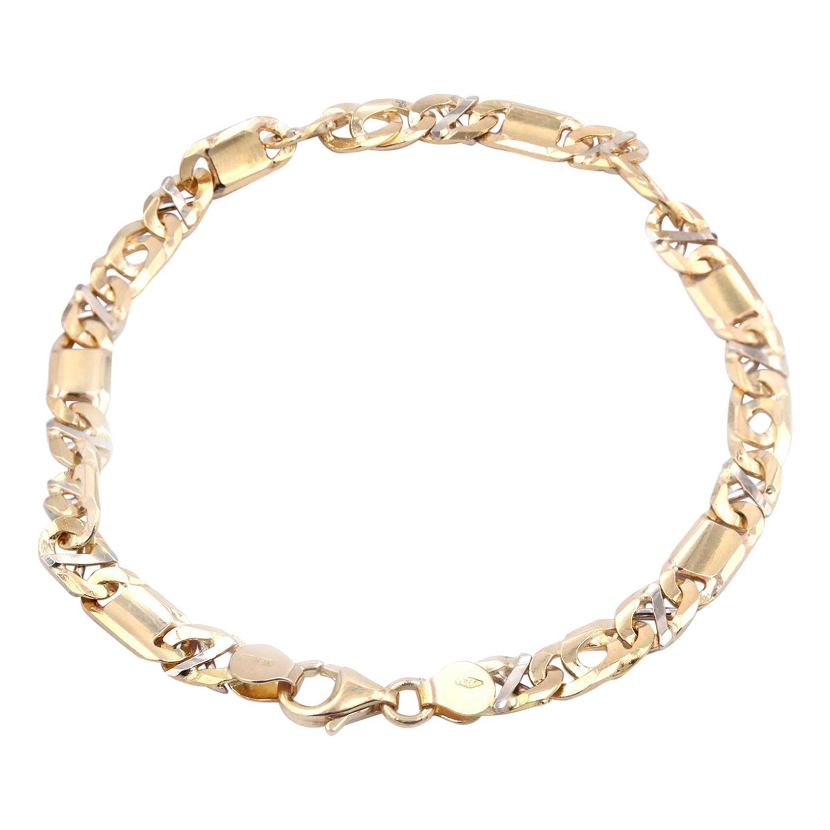 18 Karat Yellow Gold Custom Link Bracelet