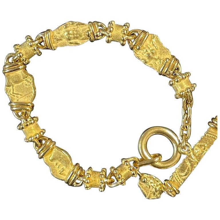 18 Karat Yellow Gold Denise Roberge Bracelet For Sale