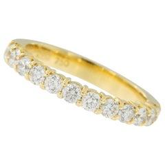 18 Karat Yellow Gold Diamond Anniversary Band Ring