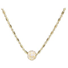 18 Karat Yellow Gold Diamond Ball Pendant