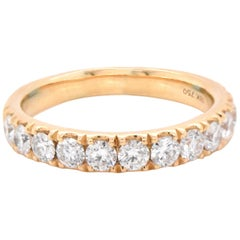 18 Karat Yellow Gold Diamond Band