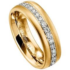 Furrer Jacot 18 Karat Yellow Gold Diamond Band