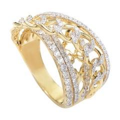 18 Karat Yellow Gold Diamond Band Ring KOW32271RZZ