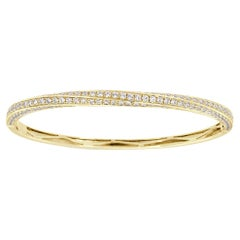 18 Karat Yellow Gold Diamond Bangle '3 Carat'